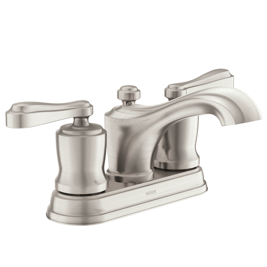 Resist Brushed Nickel 2-Handle 4-in Centerset WaterSense Bathroom Sink ...