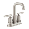 Moen Gibson Spot Resist Brushed Nickel 2-Handle 4-in Centerset WaterSense Bathroom Faucet (Drain Included)