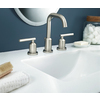 Moen Gibson Spot Resist Brushed Nickel 2-Handle Widespread WaterSense Bathroom Faucet (Drain Included)