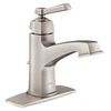 Moen Boardwalk Spot Resist Brushed Nickel 1-Handle Single Hole WaterSense Bathroom Sink Faucet (Drain Included)