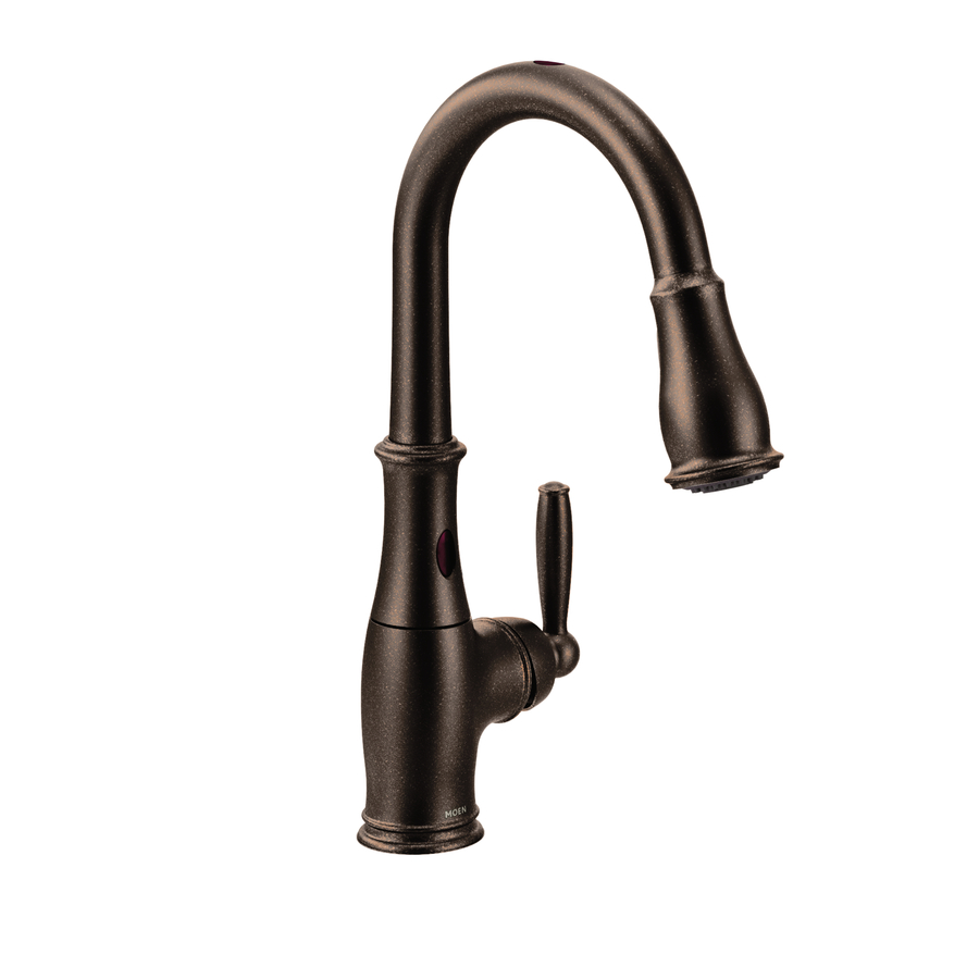 shop moen brantford with motionsense rubbed bronze