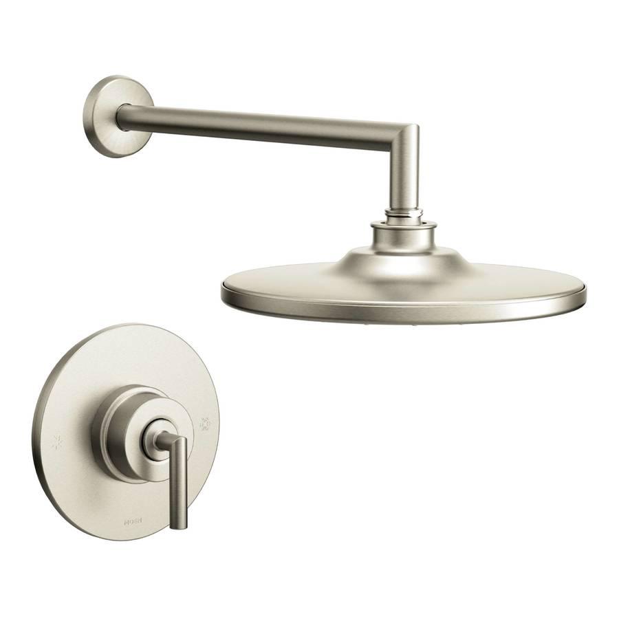 Shop Moen Arris Brushed Nickel 1-Handle WaterSense Shower Faucet Trim ...