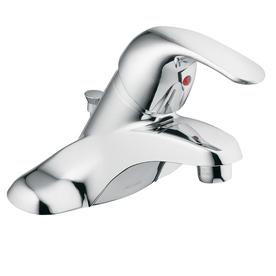 Moen Adler Chrome 1-Handle 4-in Centerset WaterSense Bathroom Faucet (Drain Included)