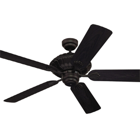 Monte Carlo Fan Company 52-in Cozumel Black Outdoor Ceiling Fan ENERGY STAR