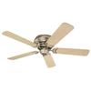 Monte Carlo Fan Company 52-in Designer Hugger Brushed Pewter Ceiling Fan