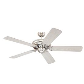 Monte Carlo Fan Company 52-in Designer Supreme Brushed Steel Ceiling Fan