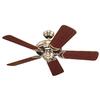 Monte Carlo Fan Company Designer Supreme II 44-in Brushed Steel Downrod Mount Ceiling Fan