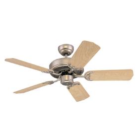Monte Carlo Fan Company 42-in Homeowner's Select II Brushed Pewter Ceiling Fan