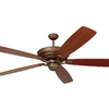 Monte Carlo Fan Company St. Ives Tuscan Bronze Downrod Mount Ceiling Fan