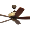 Monte Carlo Fan Company Royal Danube Tuscan Bronze Downrod Mount Ceiling Fan with Remote