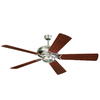 Monte Carlo Fan Company 60-in Grand Prix Brushed Steel Ceiling Fan ENERGY STAR