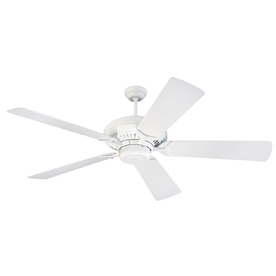 Monte Carlo Fan Company Grand Prix 60-in White Downrod Mount Ceiling Fan ENERGY STAR