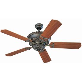 Monte Carlo Fan Company Aberdeen 52-in Roman Bronze Downrod Mount Ceiling Fan ENERGY STAR
