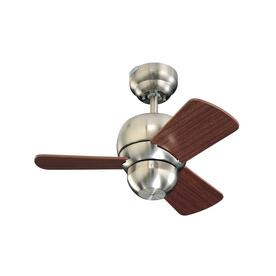 Monte Carlo Fan Company Micro 24-in Brushed Steel Multi-Position Ceiling Fan (3-Blade)
