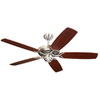 Monte Carlo Fan Company 52-in Colony Brushed Steel Ceiling Fan ENERGY STAR