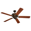 Monte Carlo Fan Company 52-in Bayshore Roman Bronze Outdoor Ceiling Fan ENERGY STAR