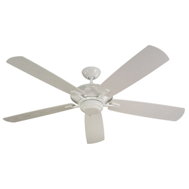 Monte Carlo Fan Company Cyclone 60-in White Downrod Mount Ceiling Fan ENERGY STAR