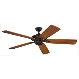 Monte Carlo Fan Company Cyclone 60-in Roman Bronze Downrod Mount Ceiling Fan ENERGY STAR