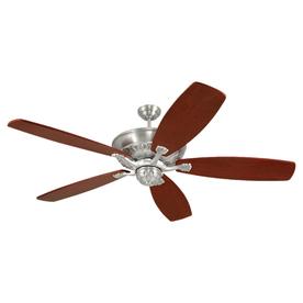 Monte Carlo Fan Company St. Ives English Pewter Downrod Mount Ceiling Fan