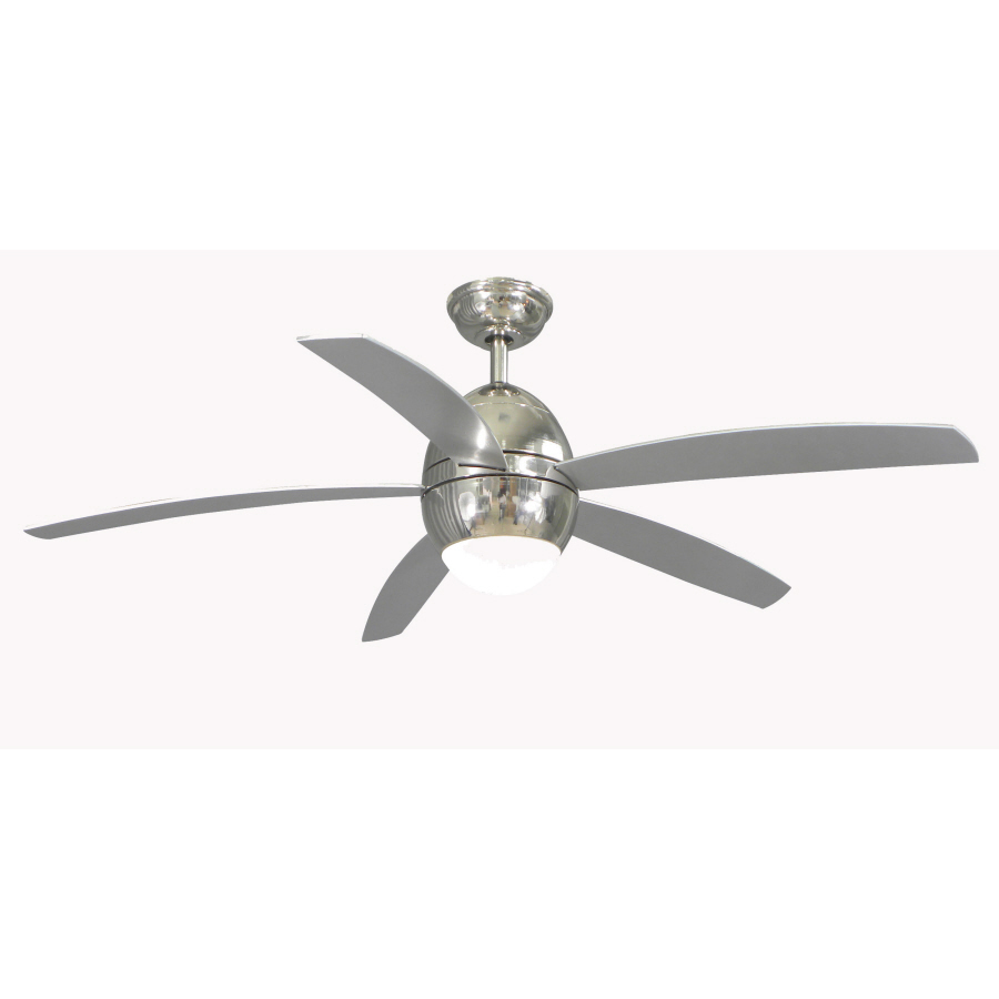 shop allen roth 52 in secor polished nickel ceiling fan. Black Bedroom Furniture Sets. Home Design Ideas
