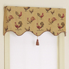 Style Selections 18-in L Multicolor Rooster Tapestry Tapered Valance