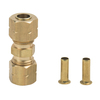 BrassCraft 1/4-in x 1/4-in Compression Reducing Union Coupling Fitting