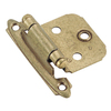 Amerock 1/2-in x 1-7/8-in Burnished Brass Self-Closing Cabinet Hinge