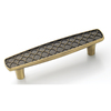 Amerock 3-in Center-to-Center Elegant Brass Marsden Bar Cabinet Pull