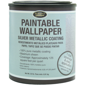 Roman paintable wallpaper gold metallic coating paint for Wallpaper primer home depot