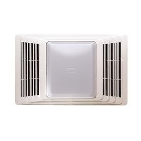 Broan 4-Sone 70 CFM White Bathroom Fan with Heater and Light