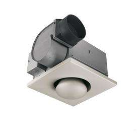 Broan 3.5-Sone 70 CFM White Bathroom Fan with Heater and Light