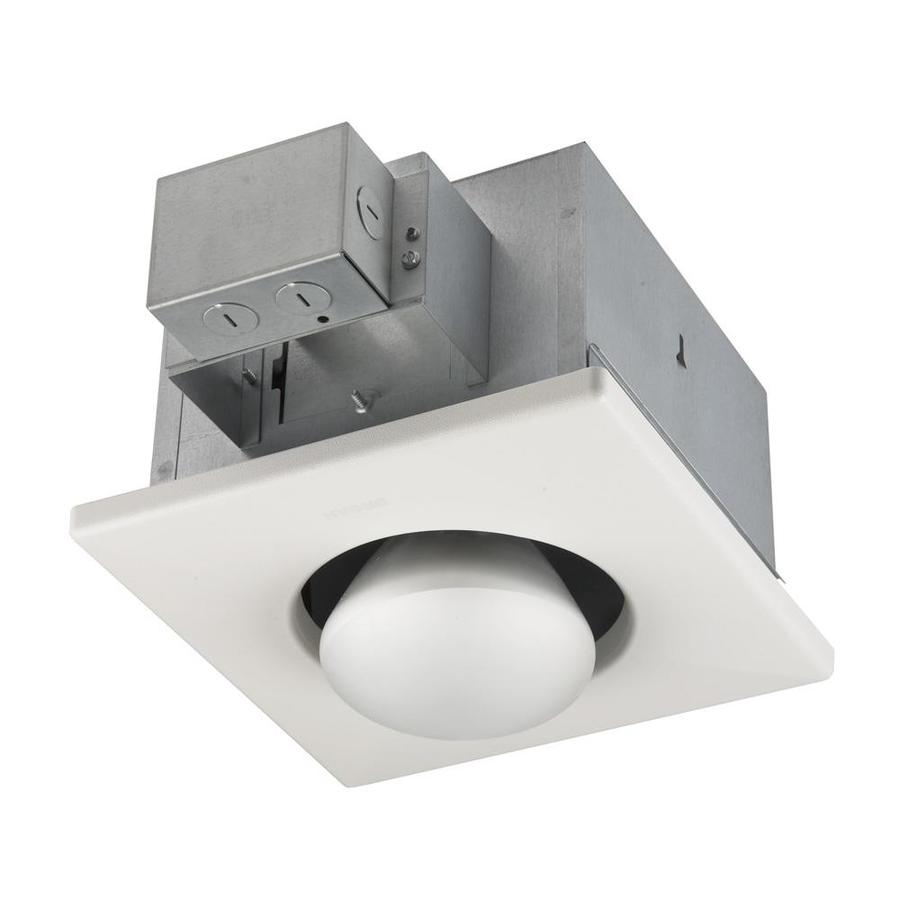 Shop broan white bathroom heater and light at - Bathroom ceiling light with heater ...