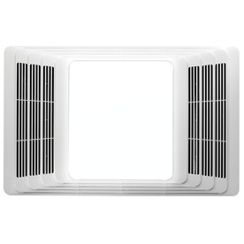 Broan 4-Sone 70-CFM White Bathroom Fan with Light