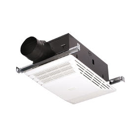 Broan 4-Sone 70-CFM White Bathroom Fan with Integrated Heater