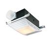 Broan 4.5-Sone 100-CFM White Bathroom Fan with Light