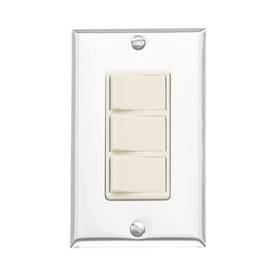 Broan 20-Amp Ivory/Chrome Light Switch