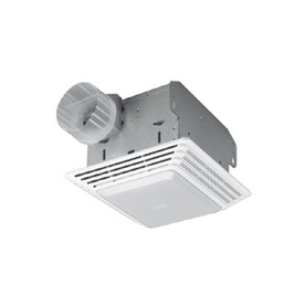 shop broan 1 5 sone 50 cfm white bathroom fan with light at. Black Bedroom Furniture Sets. Home Design Ideas