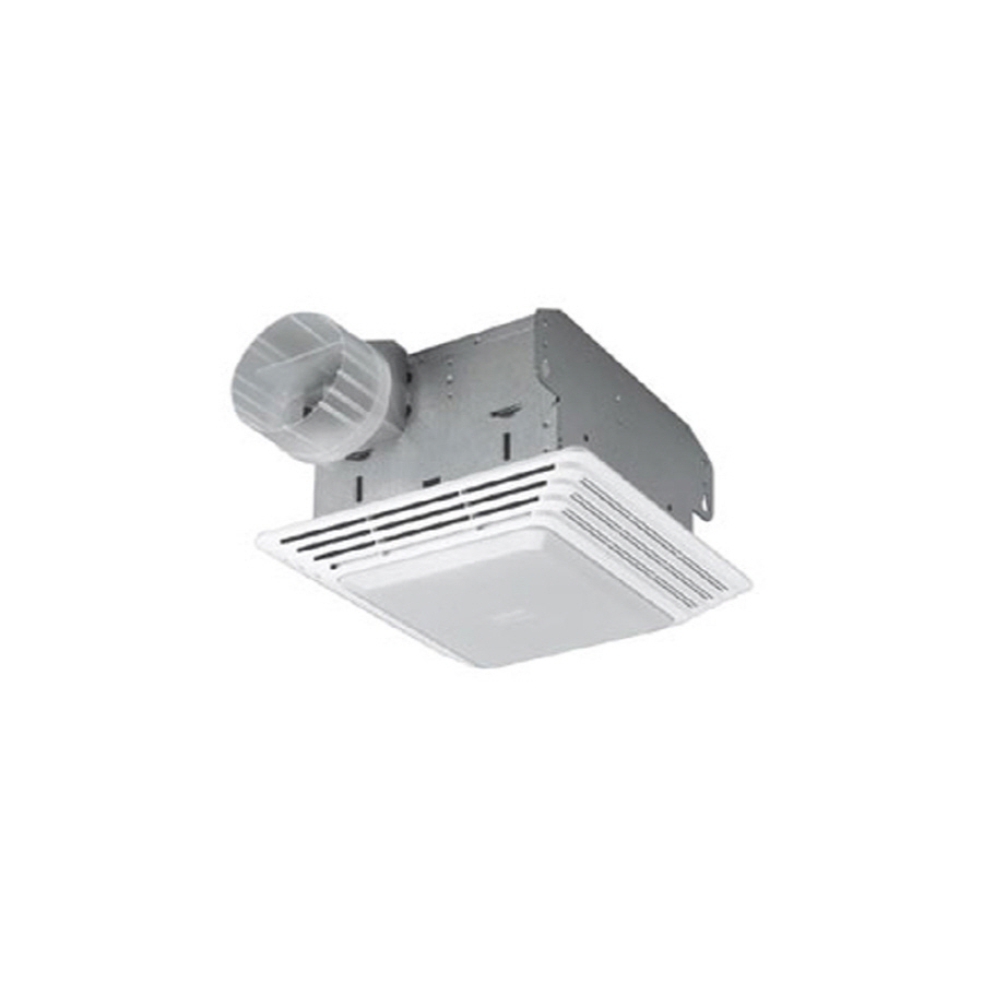 Shop broan 25 sone 80 cfm white bathroom fan with light for How many cfm for bathroom fan