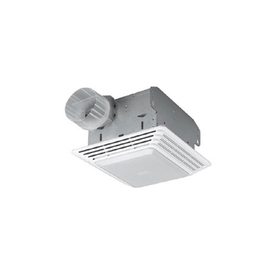 Shop Broan 2 5 Sone 80 Cfm White Bathroom Fan With Light At