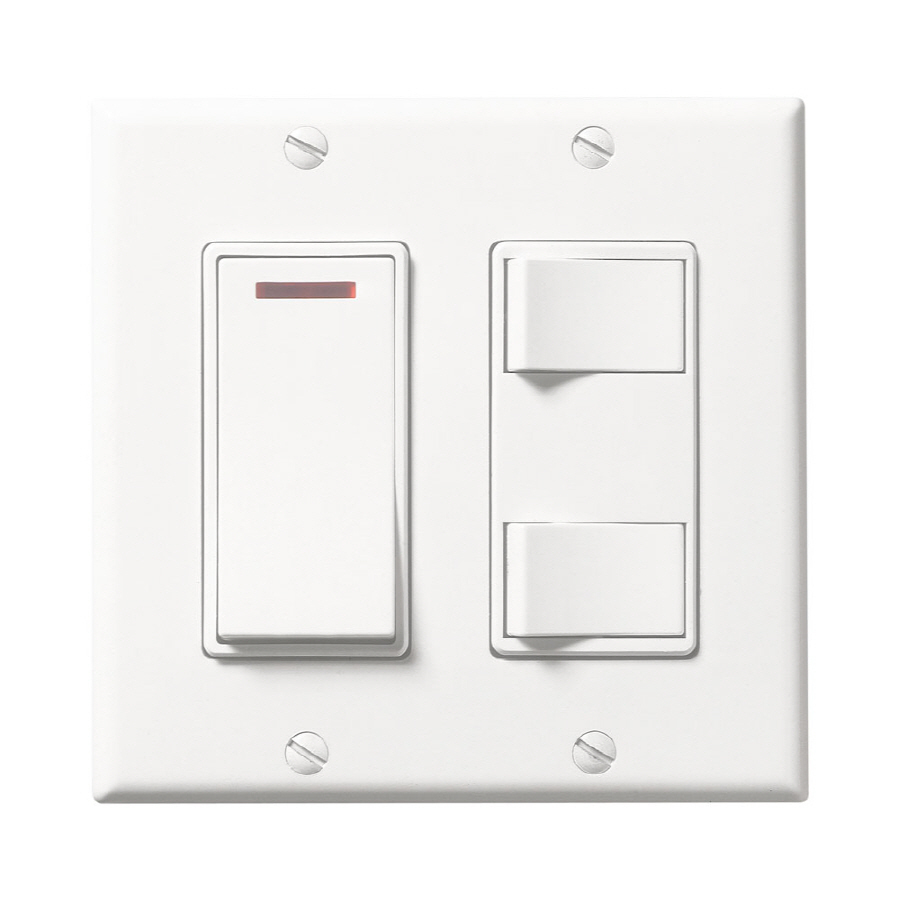 Shop Broan 20 Amp White Double Pole Light Switch At Lowescom