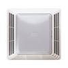 Broan 4-Sone 100-CFM White Bathroom Fan with Light