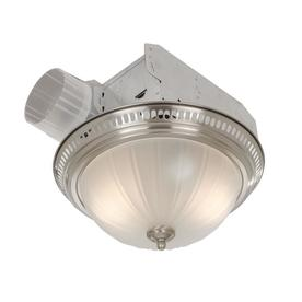 Broan 3.5-Sone 70 CFM Satin Nickel Bathroom Fan with Light