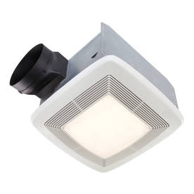 Broan 0.3-Sone 80 CFM White Bathroom Fan with Light ENERGY STAR