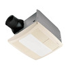 Broan 1-Sone 80 CFM White Bathroom Fan with Light