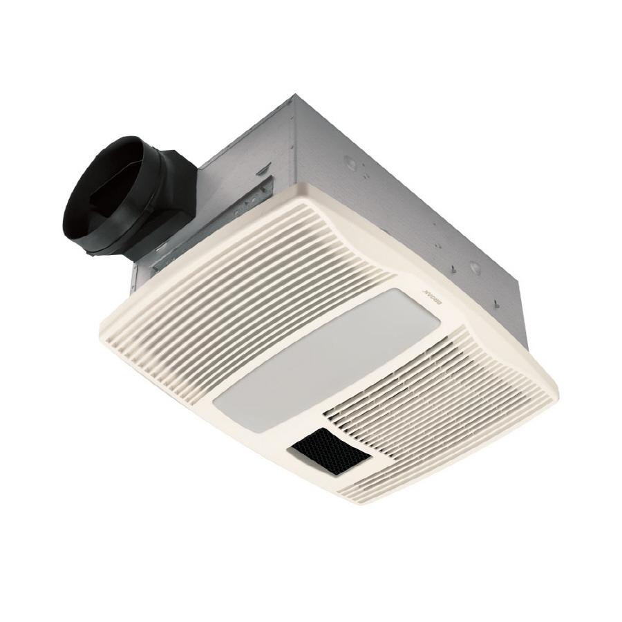 Shop Broan 0 9 Sone 110 Cfm White Bathroom Fan With Heater