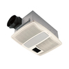 Broan 0.9-Sone 110 CFM White Bathroom Fan with Heater and Light