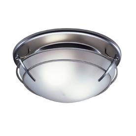 Broan 2.5-Sone 80-CFM Satin Nickel Bathroom Fan with Light