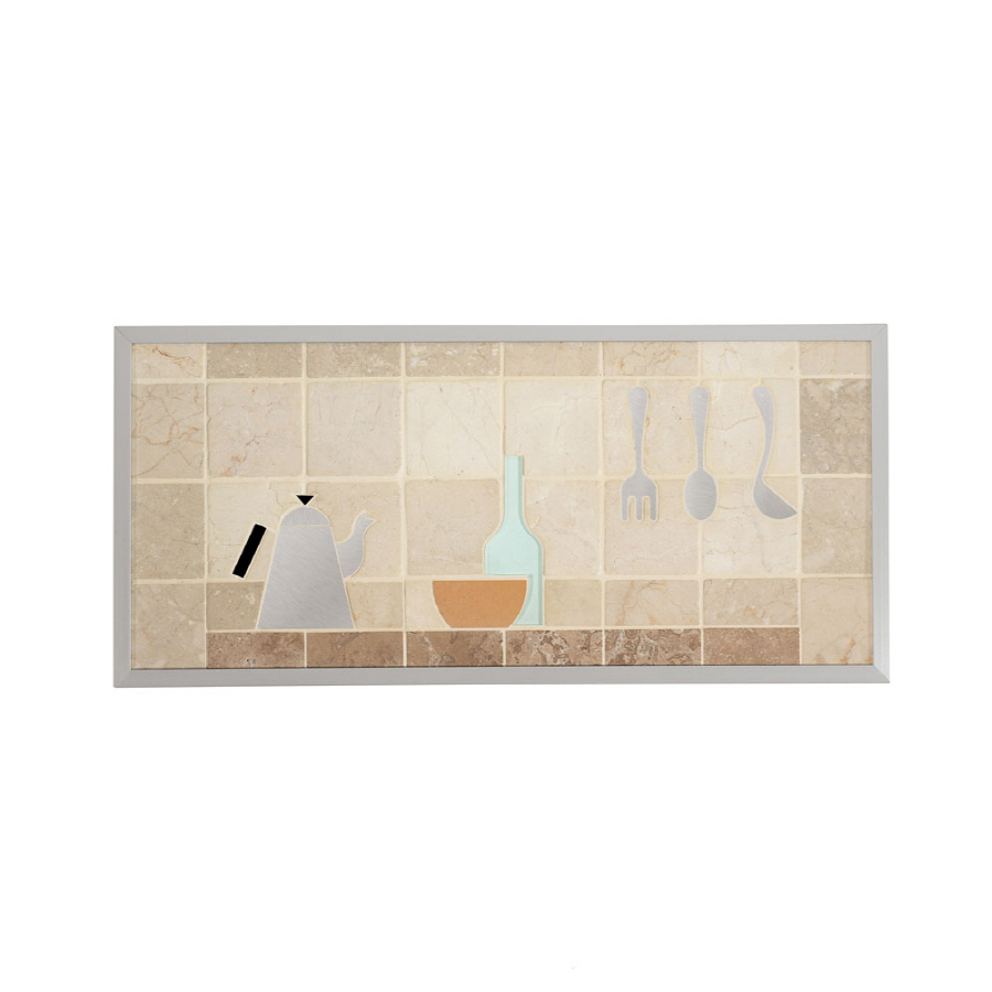 Shop broan 14 in x 30 in cream stone kitchen backsplash at for Lowes backsplash