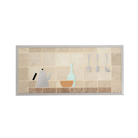 Shop Broan 14 in x 30 in Cream Stone Kitchen Backsplash at