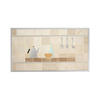 Broan 36-in Cream Stone Kitchen Backsplash